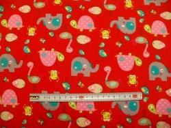 vzor 170111-03 JERSEY - zvířátka na červené -