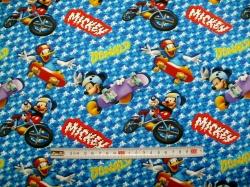 Látky - vzor 127538-0801 Mickey mouse - digitální tisk - Licence