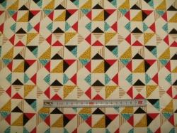 Látky - vzor 128624-3001 Trojúhelníky -