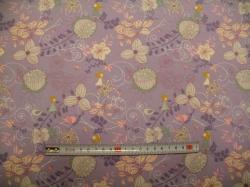 Látky - vzor 128407-3005 Květy na fialové -