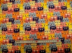 Látky - vzor 127990-3001 Barevné kočky -