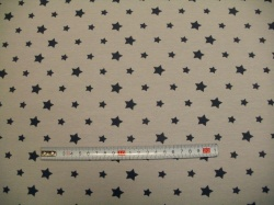 Látky - vzor 8006-163 Šedé hvězdy na šedé -