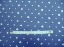 Látky - vzor 8006-006 Modré hvězdy na modré -