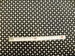 Látky - vzor 19-003 Avalana - černo - bílý ornament -