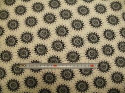 Látky - vzor 19-613 Avalana - mandely šedo - černélé -