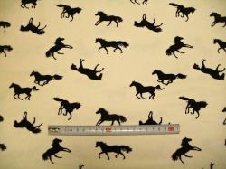 Látky - vzor 19-005 Koně -