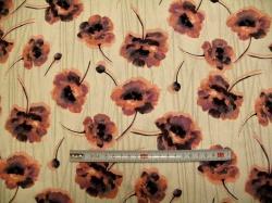 vzor 128037-3001 Velké fialové květy  -