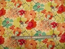 Látky Patchwork - Květy 01 - šatovka