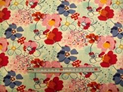 Látky Patchwork - Květy 03 - šatovka