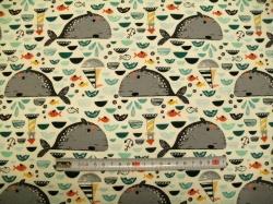 Látky Patchwork - Velryba šedá  01