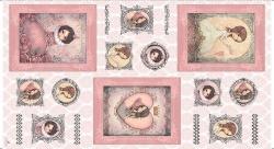 Látky - vzor 6200-570 All For Love 570 - Panel 60 cm