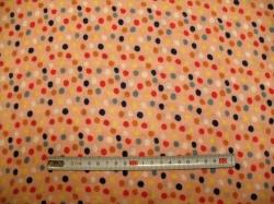 vzor  129191-3001 Gázovina dvojitá  puntík na růžové - EKO TEX tř. 1