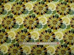 Látky Patchwork - JERSEY - Tante Ema  květy 1