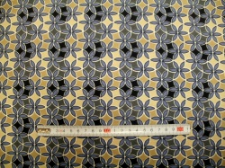 vzor 19-100 JERSEY Avalana  květy modré - EKO TEX  třída 1  - do 3 let