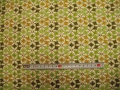 vzor 19-102 JERSEY Avalana  květy zelené - EKO TEX  třída 1  - do 3 let