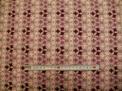 Látky Patchwork - JERSEY Avalana  květy fialové