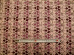 vzor 19-101 JERSEY Avalana  květy fialové - EKO TEX  třída 1  - do 3 let
