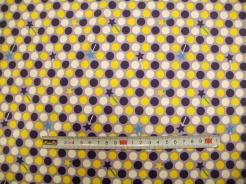 vzor 170710-08 JERSEY - puntíky na fialové - EKO TEX  třída 1  - do 3 let
