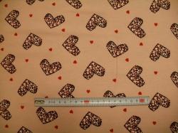vzor 128997-3001 JERSEY -  srdíčka na růžové - EKO TEX  třída 1  - do 3 let