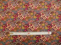 vzor 128605-3006 JERSEY -  kytičky barevné - EKO TEX  třída 1  - do 3 let