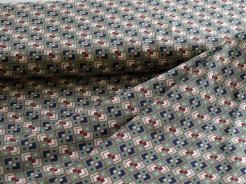 vzor 998373-0802 Čtverečky na khaki -