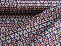 vzor 998322-0802 Květy na fialové -