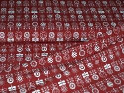 vzor 998372-0802 Ornamenty na červené -