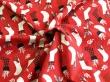 Látky Patchwork - Vánoční punčochy na červené