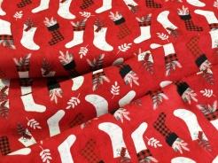 4790-412 Vánoční punčochy na červené -