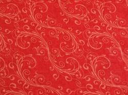 Látky Patchwork - Ornamenty na červené