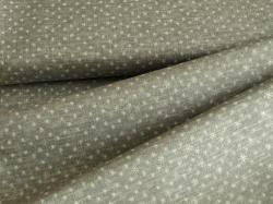 4593-014 Vánoční hvězdičky na šedé - Se stříbrnými prvky