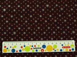 Látky Patchwork - Vánoční hvězdičky na tmavě červené - bordó