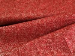 Látky Patchwork - Tečky na tmavě červené - stříbrotisk