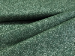 3298-814 Tečky na lahvově zelené - stříbrotisk -