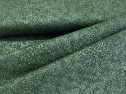 Látky Patchwork - Tečky na lahvově zelené - stříbrotisk