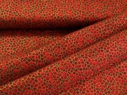 3298-422 Červená kolečka - zlatotisk -