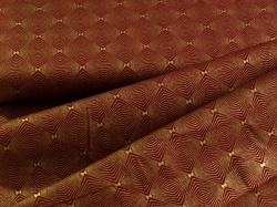 4593-415 Ornamenty na tmavě červené - zlatotisk -