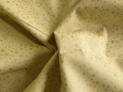 Látky Patchwork - Zlaté hvězdičky na béžové - zlatotisk
