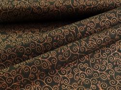 4593-937 Ornamenty na černé - zlatotisk -