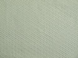 Látky Patchwork - Kolečka na bílé - stříbrotisk