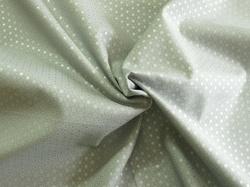 Látky Patchwork - Kolečka na šedé - stříbrotisk