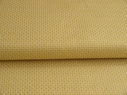 Látky Patchwork - Čtverečky na béžové - zlatotisk