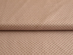 Látky Patchwork - Čtverečky na fialové - stříbrotisk