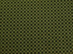 Látky Patchwork - Kolečka na lahvově zelené - zlatotisk