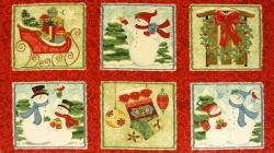 895-013 Vánoční panel - sněhuláci -