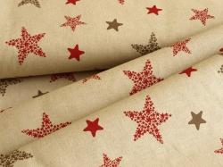 126899-0801 Hvězdy na přírodním podkladu - Canvas Druck