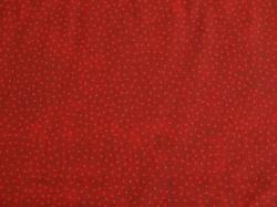 Látky Patchwork - Tečky na tmavě červeném podkladu