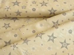 126762-5004 Vánoční hvězdy na smetanovém podkladu -