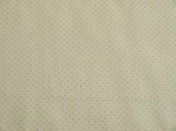 Látky Patchwork - Stříbrné tečky na bílém podkladu