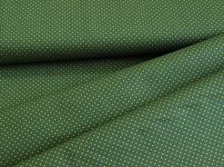 122346-1008 Zlaté tečky na tmavě zeleném podkladu -